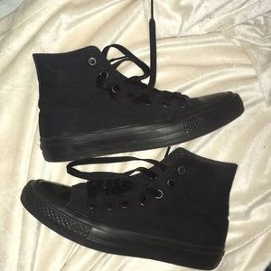 Blacked Out High Top Converse